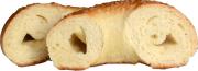 塩バターベーグル カット1